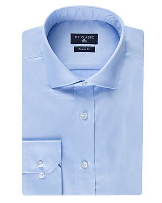 Ds Damat Regular Fit Mavi Düz Nano Care Gömlek - 8682445047981 | D'S Damat