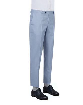 Twn Slim Fit Mavi Armürlü Pantolon - 8682060495839 | D'S Damat