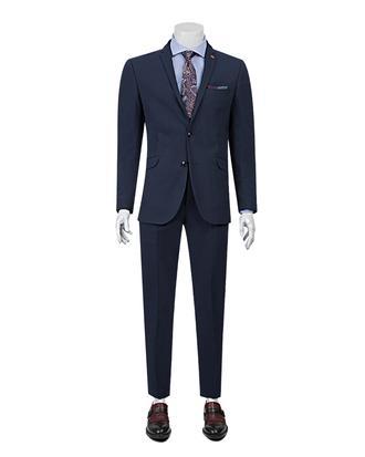 Twn Slim Fit Slim Fit Lacivert Armürlü Takim Elbise - 8681779860211 | D'S Damat