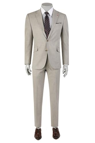 Ds Damat Slim Fit Slim Fit Bej Takim Elbise - 8681779864066 | D'S Damat