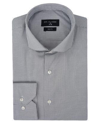 Ds Damat Slim Fit Beyaz Armürlü Gömlek - 8681779892175 | D'S Damat