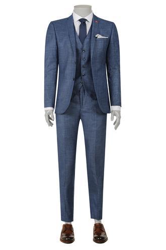 Twn Slim Fit Slim Fit Lacivert Düz Yelekli Takim Elbise - 8681779915089 | D'S Damat