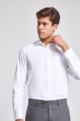 Ds Damat Regular Fit Beyaz Düz Gömlek - 8681779990543 | D'S Damat