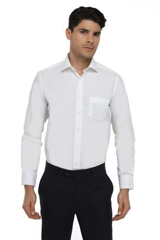 Ds Damat Regular Fit Beyaz Düz Gömlek - 8681779843849 | D'S Damat
