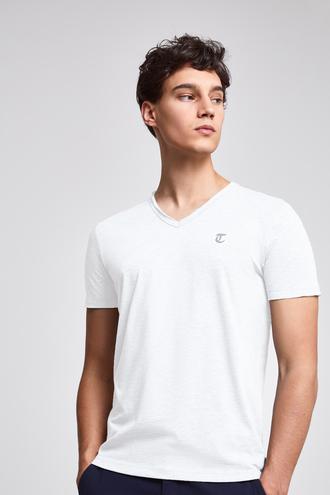 Twn Slim Fit Beyaz T-shırt - 8682060050496   D'S Damat