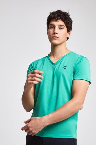 Twn Slim Fit Yeşil Yok T-Shirt - 8682060050854   D'S Damat