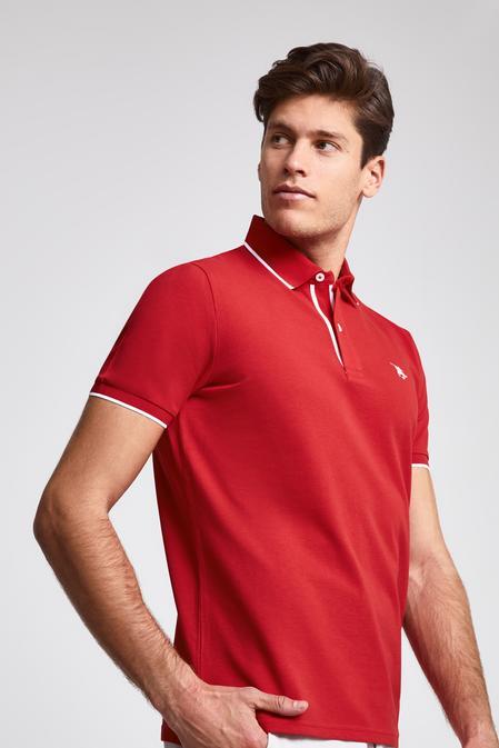 Ds Damat Regular Fit Kırmızı Pike Dokulu T-shirt - 8682060051226 | D'S Damat