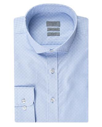 Twn Slim Fit Mavi Armürlü Gömlek - 8682060350824 | D'S Damat