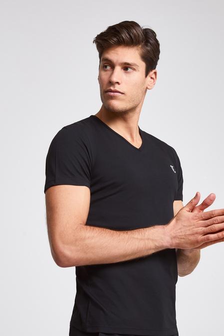 Twn Slim Fit Siyah Düz T-shirt - 8682060051769 | D'S Damat