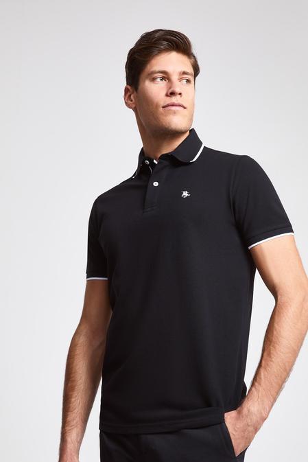 Ds Damat Regular Fit Siyah Pike Dokulu T-shirt - 8682060051943 | D'S Damat