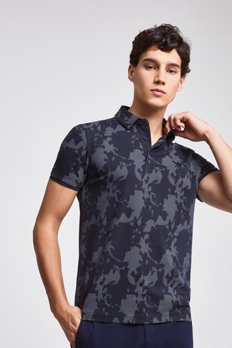 Twn Slim Fit Lacivert Baskılı T-shirt - 8682060058997   D'S Damat