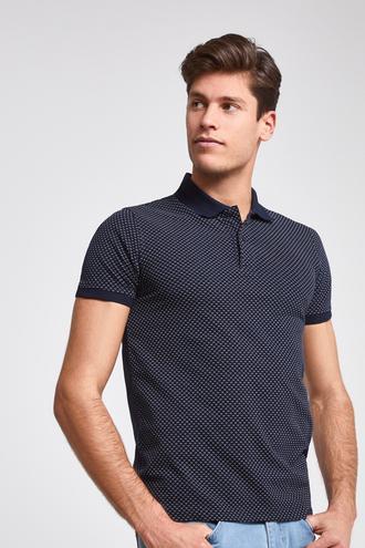 Twn Slim Fit Lacivert Desenli T-shirt - 8682060059086 | D'S Damat