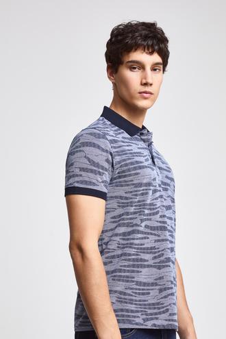 Twn Slim Fit Lacivert Desenli T-shirt - 8682060914453 | D'S Damat