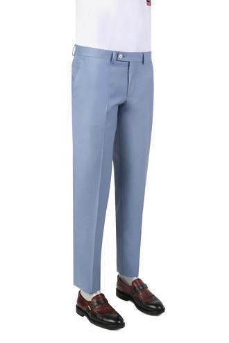 Twn Mavi Armürlü Kumaş Pantolon - 8682060350961 | D'S Damat