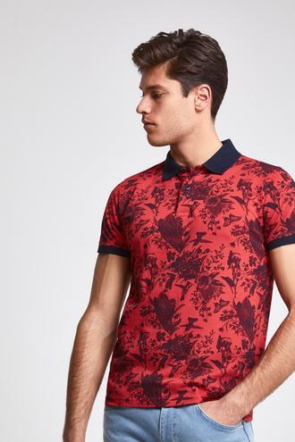 Ds Damat Slim Fit Nar Çiçeği Baskılı T-shirt - 8682060062147   D'S Damat