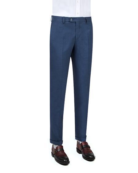 Twn Slim Fit Lacivert Armürlü Kumaş Pantolon - 8682060351234 | D'S Damat