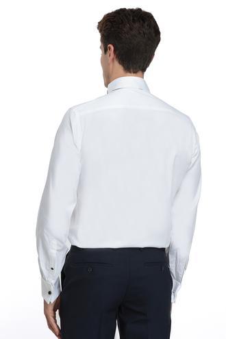 Ds Damat Slim Fit Beyaz Düz Gomlek - 8682060074355 | D'S Damat