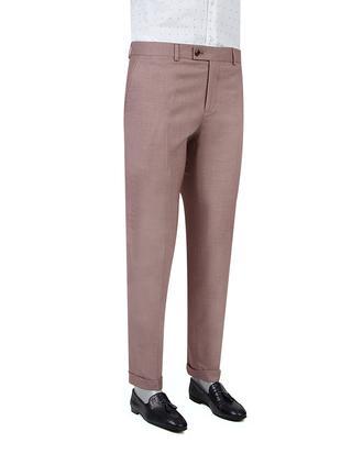 Twn Slim Fit Bordo Armürlü Kumaş Pantolon - 8682060351777 | D'S Damat