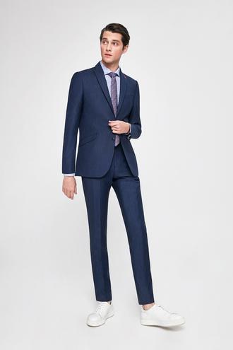 Twn Slim Fit Slim Fit Lacivert Çizgili Takim Elbise - 8682060080660 | D'S Damat