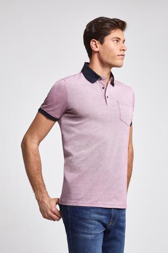 Ds Damat Regular Fit Pembe Pike Dokulu T-shirt - 8682060082022 | D'S Damat