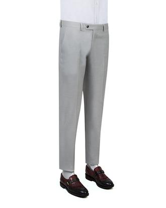 Twn Gri Armürlü Kumaş Pantolon - 8682060351326 | D'S Damat