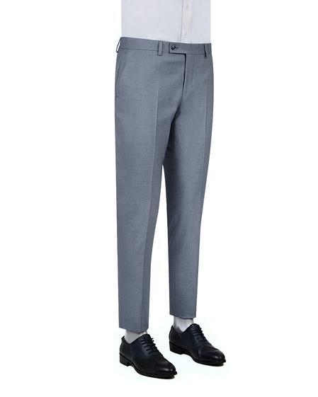 Twn Slim Fit Lacivert Armürlü Kumaş Pantolon - 8682060352514 | D'S Damat