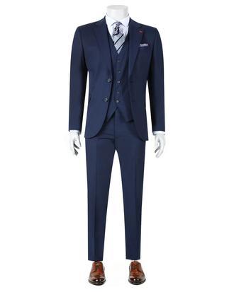 Ds Damat Slim Fit Slim Fit Lacivert Yelekli Takim Elbise - 8681779734819 | D'S Damat