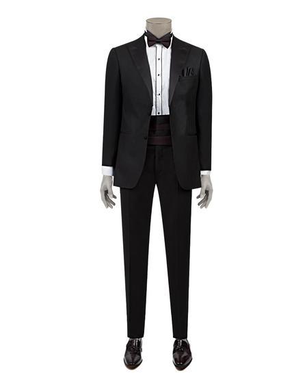 Ds Damat Slim Fit Siyah Düz Smokin Takım Elbise - 8682060135711 | D'S Damat