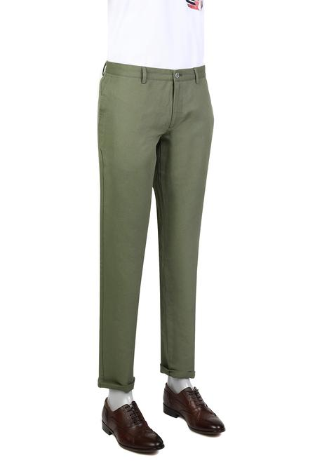 Twn Slim Fit Haki Düz Kumaş Pantolon - 8682060353856 | D'S Damat