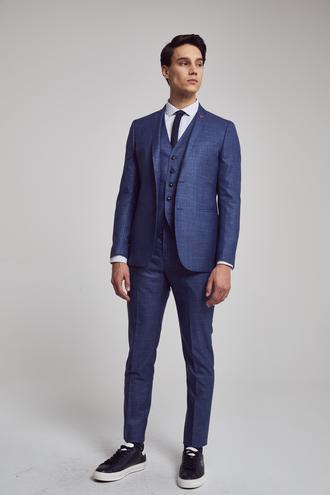 Twn Slim Fit Slim Fit Lacivert Düz Yelekli Takim Elbise - 8682060142115 | D'S Damat