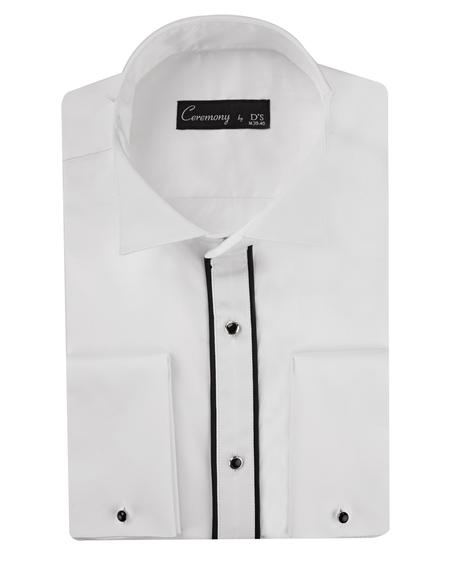 Ds Damat Slim Fit Beyaz Düz Gomlek - 8682060146113 | D'S Damat
