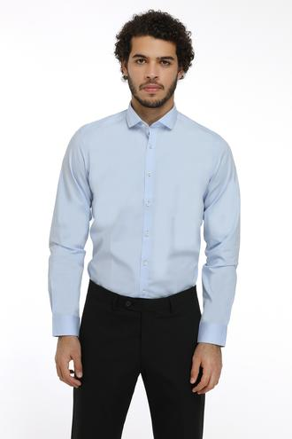 Twn Slim Fit Mavi Düz Gomlek - 8682060150097 | D'S Damat