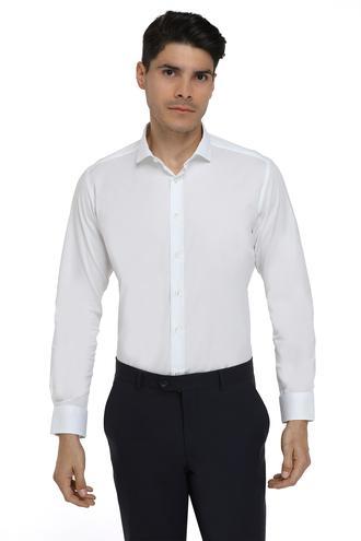 Twn Slim Fit Beyaz Düz Gomlek - 8682060149961 | D'S Damat