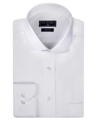 Ds Damat Regular Fit Beyaz Düz Nano Care Gömlek - 8682445048056 | D'S Damat