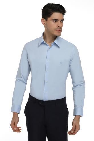 Twn Slim Fit Mavi Düz Gomlek - 8682060150622 | D'S Damat