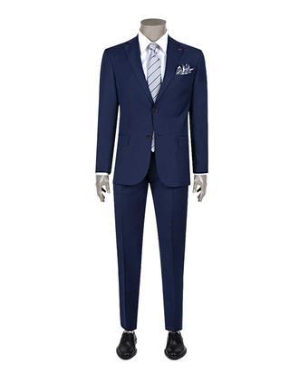 Ds Damat Regular Fit Slim Fit Saks Mavi Düz Takim Elbise - 8682060153722 | D'S Damat