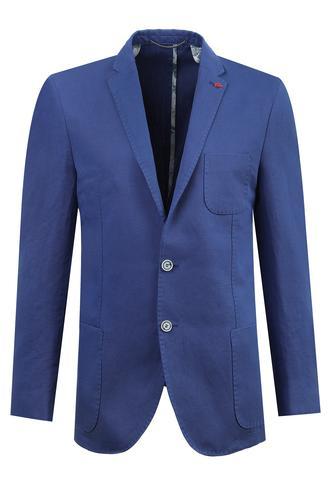 Twn Slim Fit Saks Mavi Armürlü Kumaş Ceket - 8682060354884 | D'S Damat