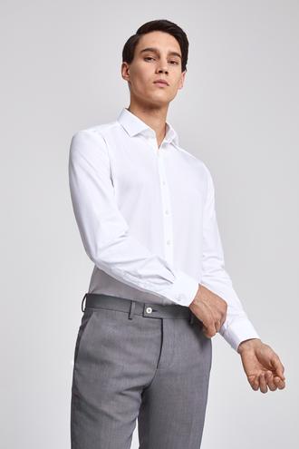 Twn Slim Fit Beyaz Gömlek - 8682060773692   D'S Damat
