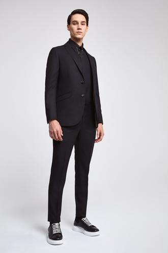 Twn Slim Fit Slim Fit Siyah Düz Takim Elbise - 8682060178220 | D'S Damat