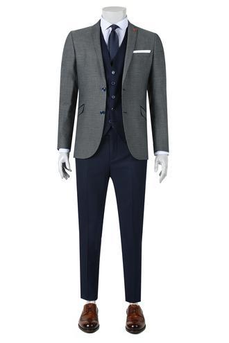 Twn Slim Fit Slim Fit Lacivert Yelekli Takim Elbise - 8681779893233   D'S Damat