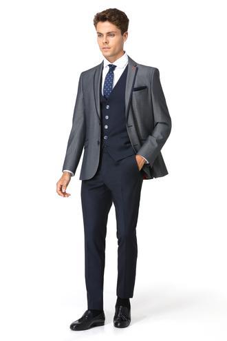 Twn Slim Fit Slim Fit Lacivert Yelekli Takim Elbise - 8681779893349 | D'S Damat