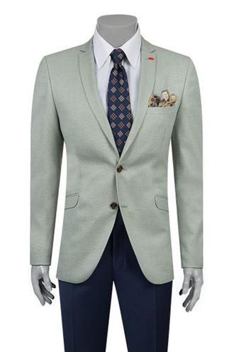 Twn Slim Fit Yeşil Ceket - 8682060356512 | D'S Damat