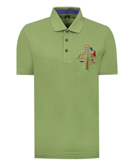 Ds Damat Regular Fit Yeşil Baskılı T-shirt - 8682060373809   D'S Damat
