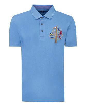 Ds Damat Regular Fit Mavi T-shırt - 8682060374370 | D'S Damat