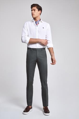 Ds Damat Slim Fit Haki Düz Pantolon - 8682060496157 | D'S Damat