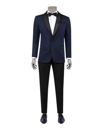 Ds Damat Slim Fit Slim  Fit Lacivert Jakar Desenli Takim Elbise - 8682060628510 | D'S Damat
