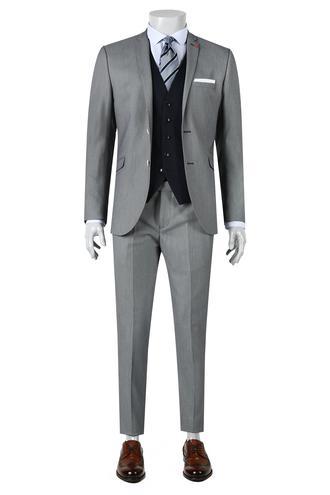 Twn Slim Fit Slim Fit Lacivert Yelekli Takim Elbise - 8681779893837 | D'S Damat