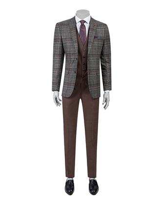 Twn Slim Fit Slim Fit Antrasit Yelekli Takim Elbise - 8681778733677 | D'S Damat