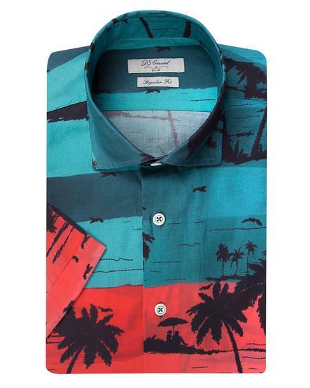 Ds Damat Regular Fit Karma Renk Baskılı Vual Gömlek - 8682445331219 | D'S Damat