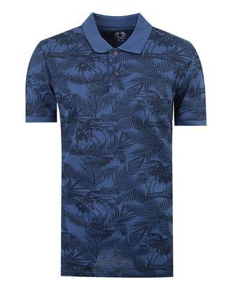 Ds Damat Slim Fit Lacivert Baskılı T-shirt - 8681779116554 | D'S Damat